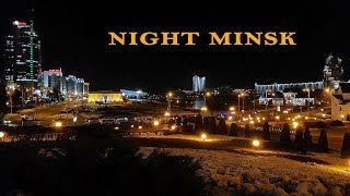 The night city of Minsk, the noise of the night city Resimi