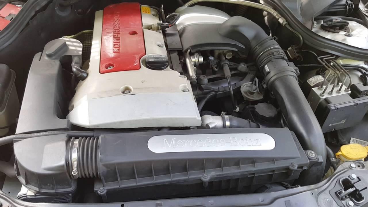 2002 mercedes c230 kompressor engine test run video 103k for Mercedes benz c230 engine