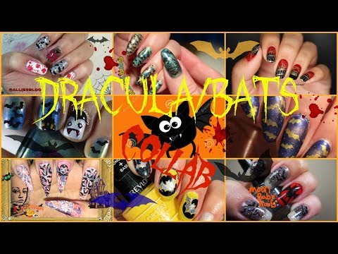 🦇HALLOWEEN NAILART COLLAB BATS🦇 How to/DIY Nailstamping🦇