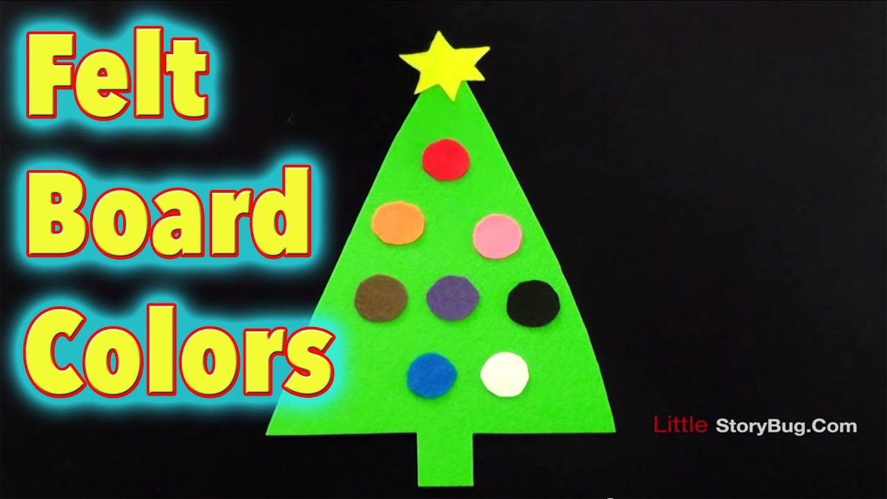 Felt Board Activity for Christmas - Colors - LittleStoryBug - YouTube