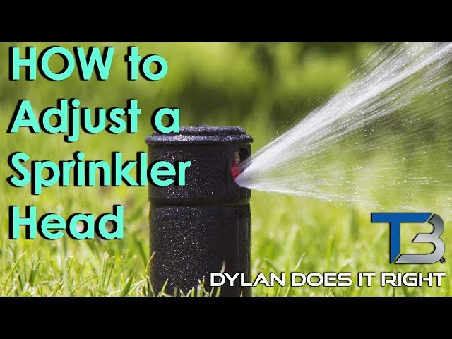 DIY — How to Adjust a Rain Bird Sprinkler System Head | Transblue Does it Right