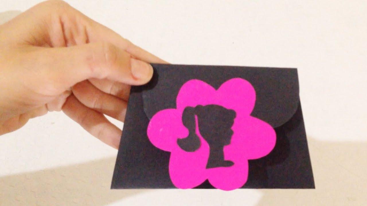 Como Fazer Convite de Aniversário Personalizado da Barbie DIY  #C9028C 1600x900 Banheiro Da Barbie Como Fazer