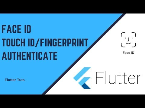 Flutter: Face ID & Touch ID/Fingerprint Local Auth   AndroidX   Full HD