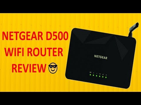 Netgear WiFi Router ( D500 ) Review - 9 Tech Tips