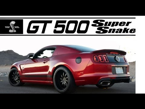 850 HP 2013 Shelby GT 500 Super Snake Wide body  the Mustang