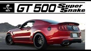 850 HP! 2013 Shelby GT 500 Super Snake Wide body @ the Mustang 50th Birthday Celebration
