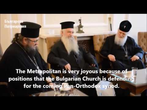 Orthodox Patriarch of Sofia receives anti-ecumenist Theologians from Greece