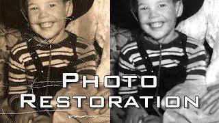 Photoshop Photo Restoration: How to Repair & Restore Old, Damaged Black & White Photos