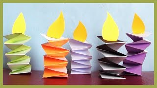 DIY Paper Candles | Simple & Easy Paper Crafts for Everyone!