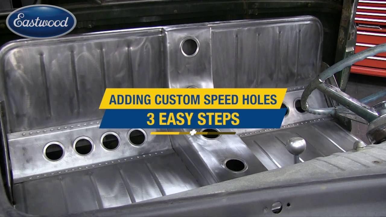 How To Add Speed Holes - Custom Metal Fab Using Punch Dies - Eastwood