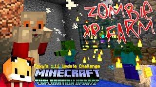 Mineacraft 1.11 - ZOMBIE SPAWNER XP FARM - Minecraft 1.11 Exploration Update Challenge [10]