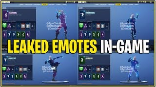 *NEW* Fortnite: ALL LEAKED EMOTES WITH GALAXY SKIN IN-GAME!| (Llama Bell, pumpernickel and more!)