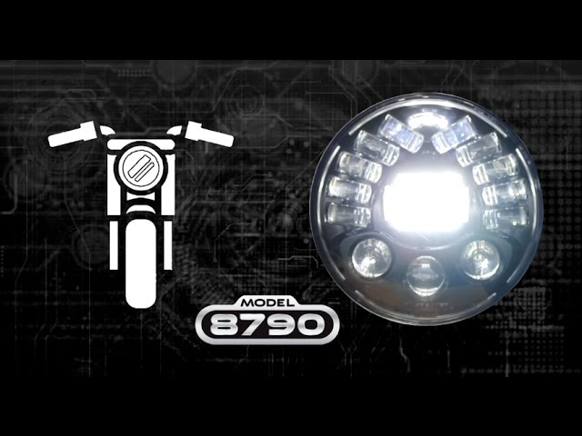 J.W. Speaker  10 Adaptive Motorcycle LED Headlight - YouTube
