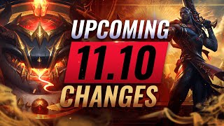 MASSIVE CHANGES: NEW BUFFS & NERFS Coming in Patch 11.10 - League of Legends