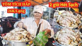 Xuất hiện xe tôm tích hấp (siêu ngon) 26k/lạng trên vỉa hè Sài Gòn