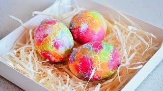 КАК КРАСИВО и быстро ПОКРАСИТЬ ЯЙЦА / Подготовка к ПАСХЕ красим Яйца