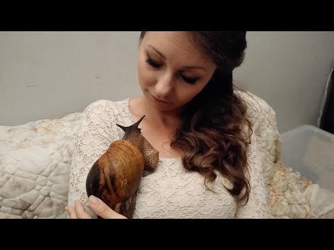 Whiskey & Randy - Woman Loves Her Snail and They're Inseparable