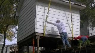 A Carpenter's Fun Day On The Job  With A 85 Ton Crane