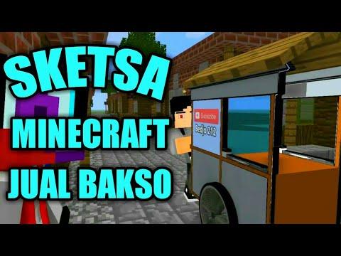 Jualan Bakso Sketsa Minecraft Lucu