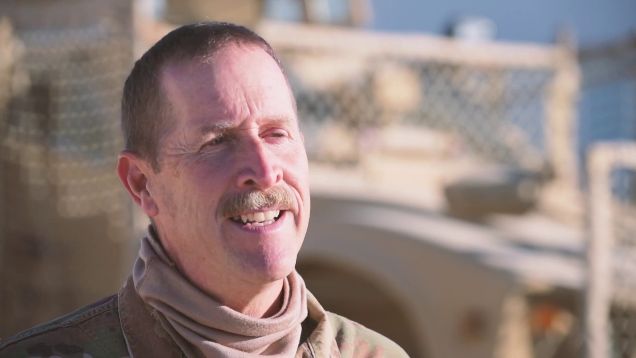 U.S. Air Force Senior Master Sgt. Carpenter and Staff Sgt. Carpenter, a father and son duo assigned to the 332nd Expeditionary Security Forces Squadron, talk about being deployed together. (U.S. Air Force video by Senior Master Sgt. Ralph Branson, 332nd Air Expeditionary Wing Public Affairs)