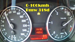 Bmw E90 0-100 km/h test (318d )
