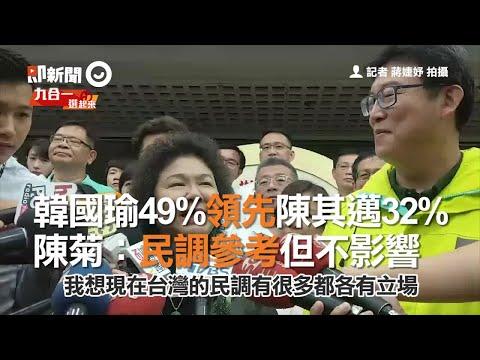 韓國瑜49%領先陳其邁32% 陳菊:民調參考但不影響