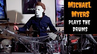 Michael Myers plays the Halloween theme song on the drums (2...