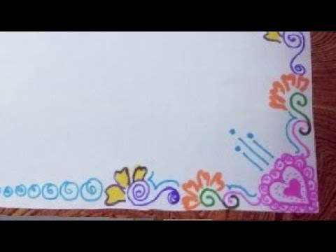 How To Draw Decorate Border Of File Paper Chart Or For Carts Simple Easy Quick Design Latest 2019 Youtube