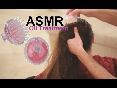 ASMR Heavy Oil Hair Treatment | Spraying | Scalp Massage | Silicone Head Massager