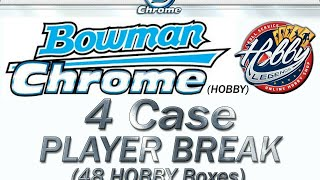 CASE #3 of 4   -   2020 Bowman Chrome HOBBY 4 Case (48 Box) PLAYER Break  eBay 10/19/20