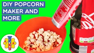 LAB 360 | DIY Coke Can Popcorn Maker | Science Experiments You Can Do At Home