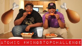 ATOMIC #WingStopChallenge (GONE WRONG) 😱 WE ALMOST FIGHT!! Vlog 52