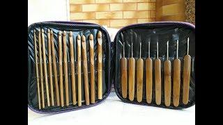 Обзор бамбуковых крючков для вязания. Комплект инструментов для рукоделия №3.
