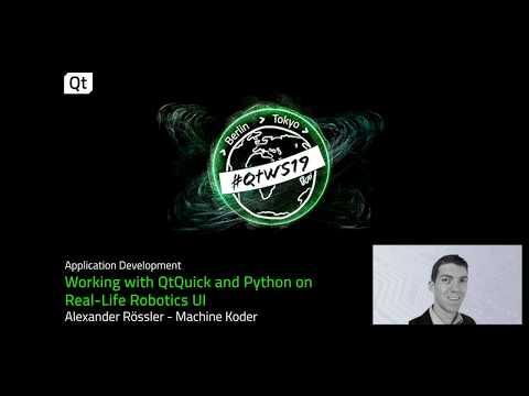 QtQuick and Python used for a Robotics UI