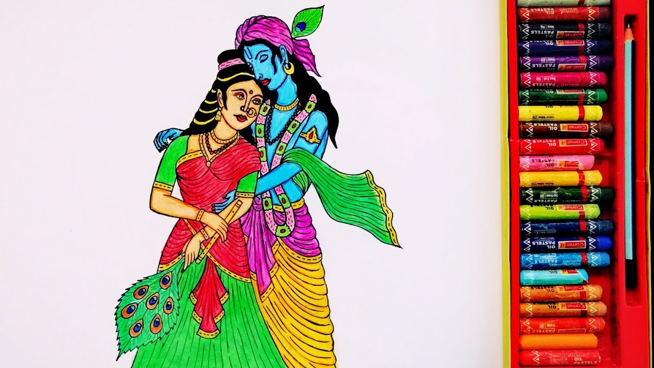 Radha - Krishna Drawing Step By Step | Painting Of Radhe - Krishna | By Drawing Art