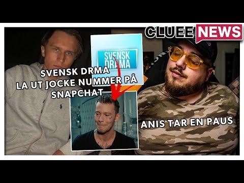 Anis Don Demina tar en paus #Clueenews Svenskdrama gav ut Jockes nummer på snapchat