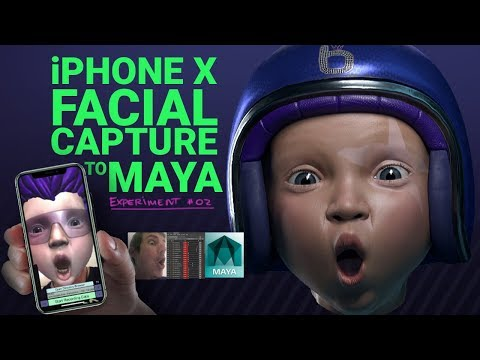 iPhone X Facial Expression Capture test PART 2 - Data into Maya
