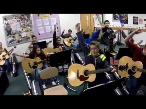 Hurricane by Collective Soul #CSGuitarCover (Cover by Salina South Middle School's Guitar Classes)