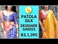 Patola Silk Designer Sarees Collection | Price Rs 1395 | Buy online at glamelegance.in