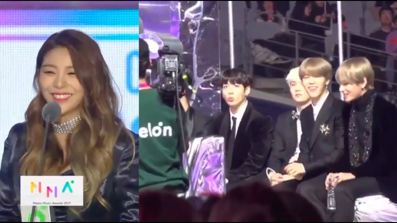 Bts Reaction To Ailee Winning Best Ost Award Mma