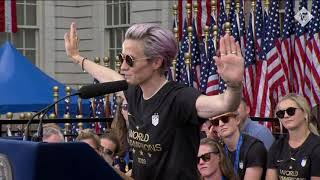 USA Women's World Cup champions honoured in New York
