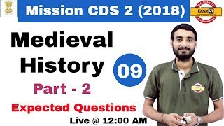 Class 09 |# Mission CDS 2 (2018) | by Vivek Sir | Medieval History ...