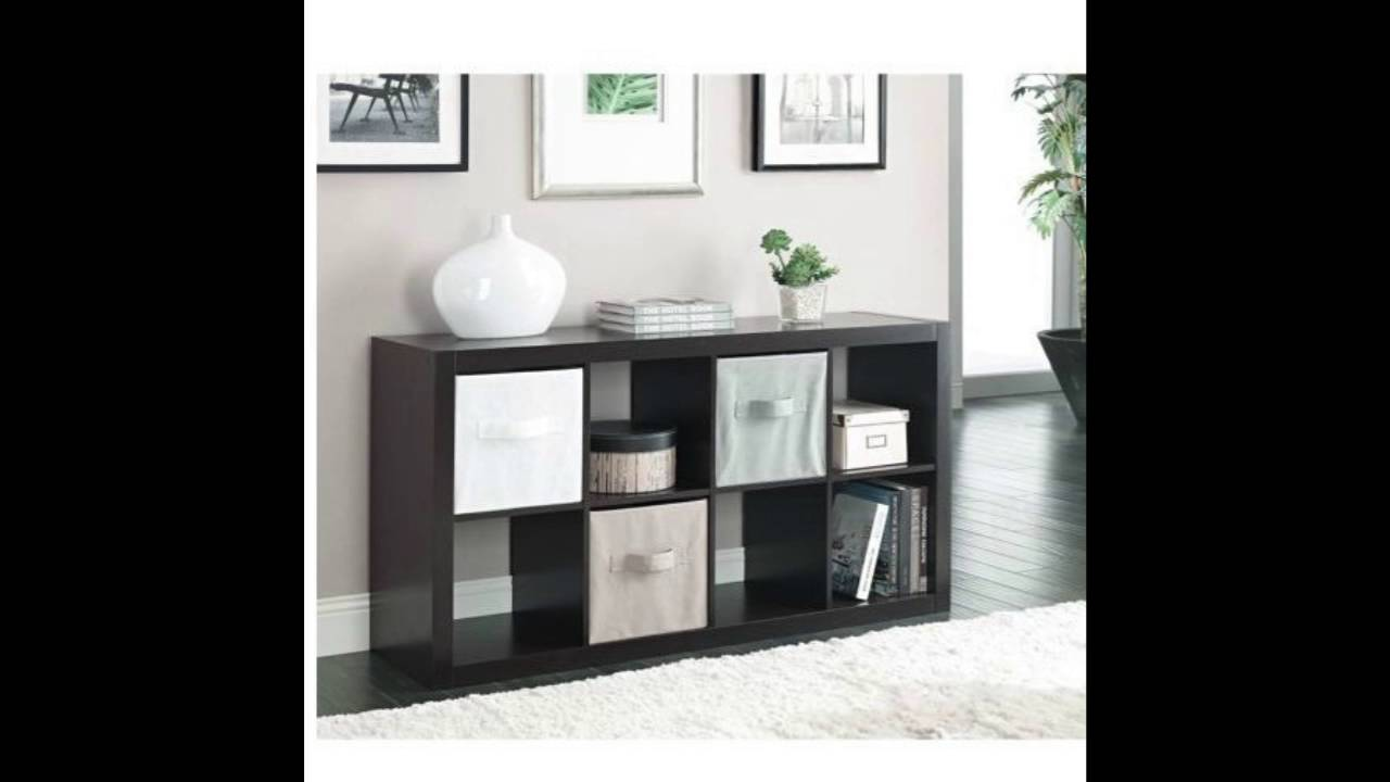 Better Homes And Gardens Furniture 8 Cube Room Organizer Storage Divider Bookcase Espresso Youtube