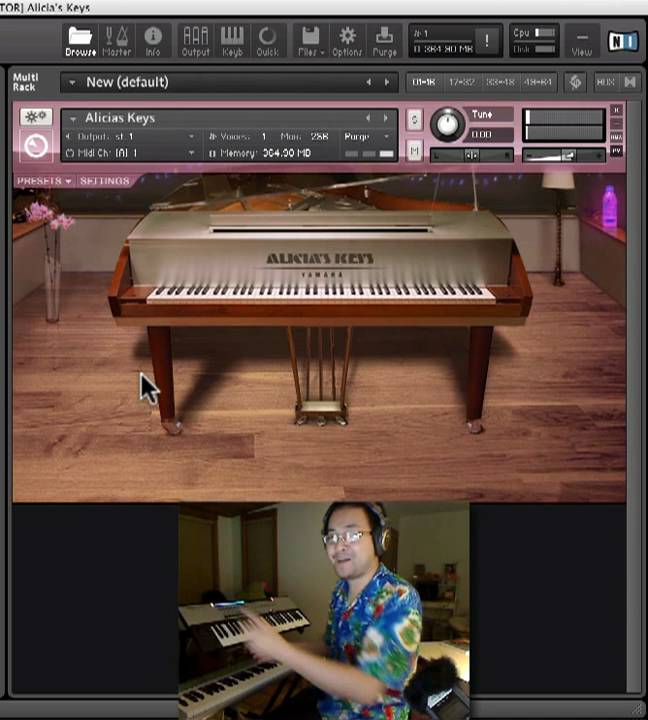 Review kontakt alicia 39 s keys piano samples based on for Yamaha c3 piano review