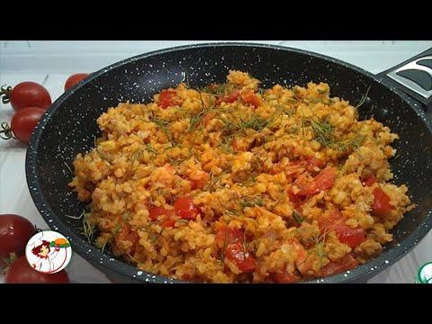 Итальянская сковорода с фаршем, овощами и рисом. Вкусно и красиво!