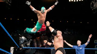 Brock Lesnar makes Rey Mysterio tap with the Brock Lock: SmackDown, Dec. 11, 2003