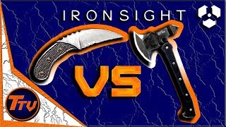 Ironsight - Karambit Knife VS. Tactical Axe (Honest Review)