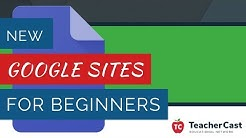 New Google Sites for Beginners Tutorial - 2018