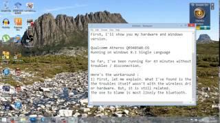 Atheros Qualcomm Windows 8.1 Wi-Fi Disconnection Workaround