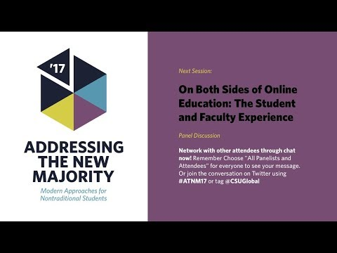 ATNM 2017:  On Both Sides of Online Education